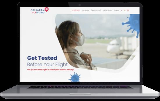 Acıbadem PCR Testing Web Sitesi